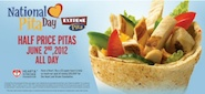 In order to celebrate National Pita Day, Extreme Pita is offering 50% off all of their pitas on June 2nd! No coupon is necessary.