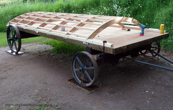 Shepherds hut building the roof cirkus vogn circus wagon shepherdstown hut pinterest - The mobile shepherds wagon ...