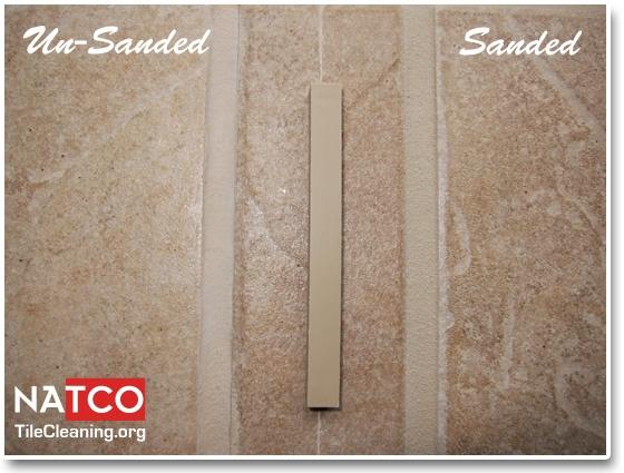 Sandstone beige tec grout color sanded vs unsanded grout.