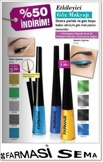 Etkileyici Göz Makyajı. Ekstra parlak ve gün boyu kalıcı etkisiyle göz makyajını tamamlar. www.farmasi.peacocksem.com