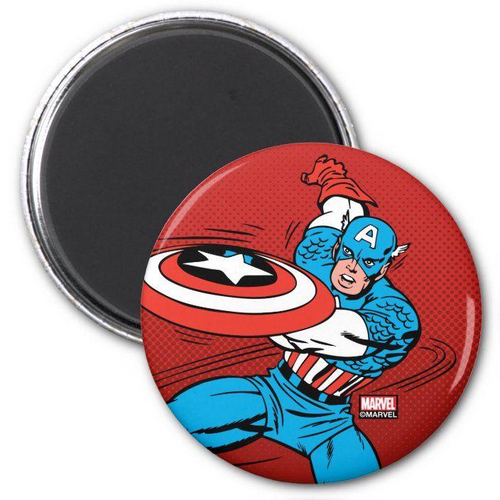 Captain America Shield Slash Magnet Zazzle Com Captain America Shield Captain America Characters Captain America