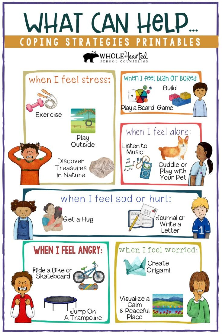 Kids coping strategies guide included in coping skills