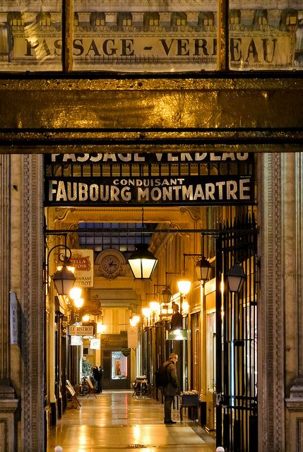 Passage Verdeau  ~ Paris ~ France.  Greg and I walked through these every morning and night toband from our hotel. Love.