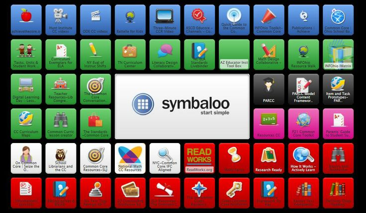 Common Core Symbaloo.   Created by INFOhio, this is a collection of resources to support the common core standards.   Direct link http://www.symbaloo.com/mix/infohioscommoncore