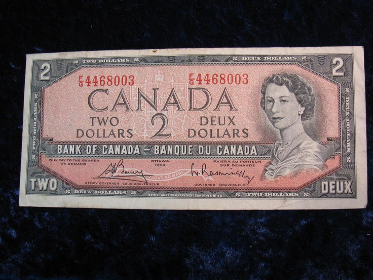 """Canadian $2 bill, no longer made, we now have the """"toonie"""""""
