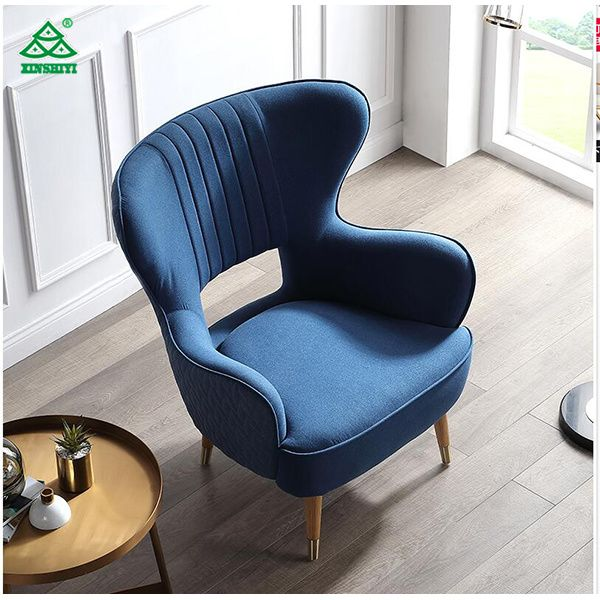 Lyqz Lazy Sofa Single Chair Fabric Sofa Bedroom Living Room Office Leisure Comfortable Seat With Footr Single Sofa Chair Comfortable Seating Living Room Office