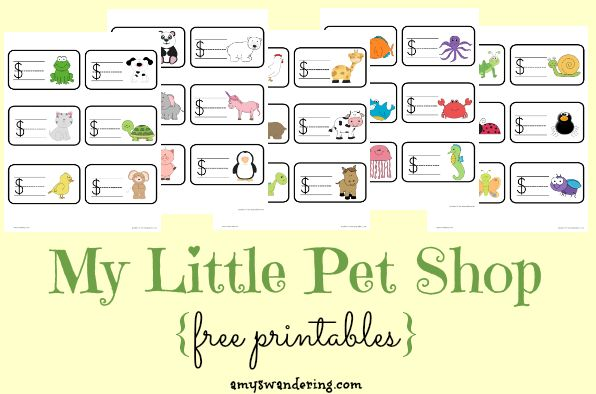 My Little Pet Shop - FREE printable play set