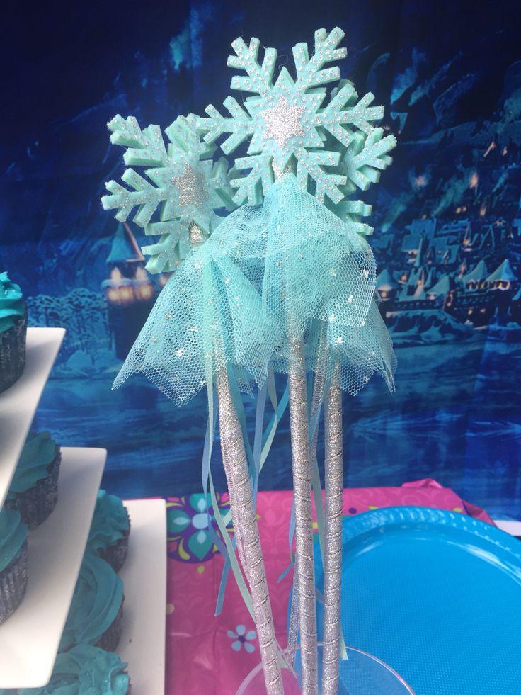 Frozen party wands