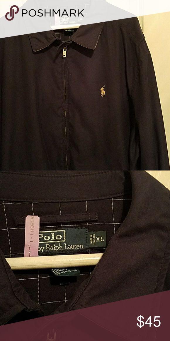 Mens polo jacket Navy blue. Like new. Navy blue Polo by Ralph Lauren Jackets & Coats Raincoats