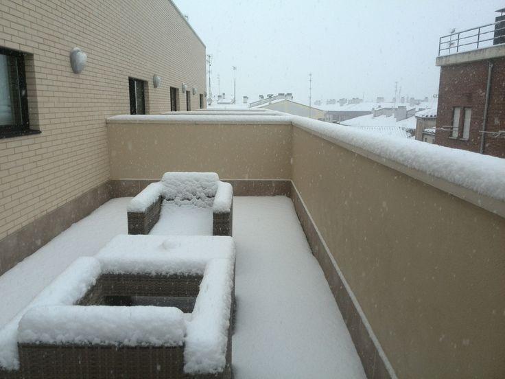 Terraza de nuestras ejecutivas nevadas 04.02.15
