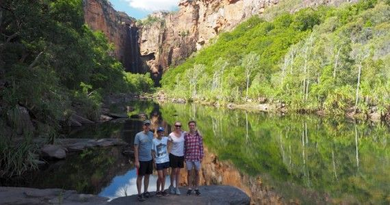 Jim Jim Falls, so much fun! Kakadu Tours. Small Group 4WD Private Tours & Adventures