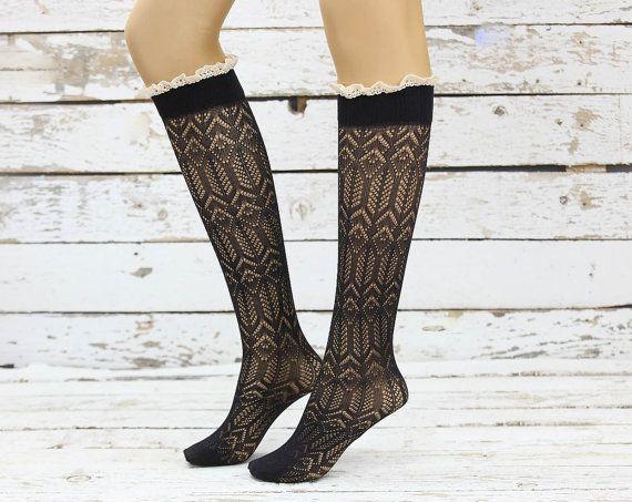 Yumuşak Mikro Fishnet Diz Highs Siyah dantel çorap seksi bacak sıcak girly çizme çorap çizme manşet kadın aksesuar doğum günü hediyeleri diz çorap