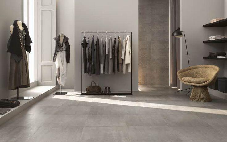Concept-laatat tuovat trendikkään sementtisen ilmeen lattia- ja seinäpinnoille. Concept keraaminen laatta, Värisilmä, www.varisilma.fi