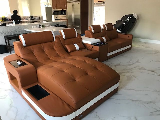 Sectional Leather Sofa Houston L Shape