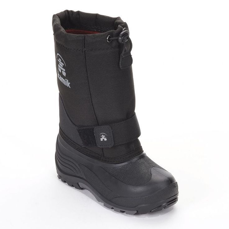 Kamik Rocket Kids' Winter Boots, Kids Unisex, Size: 10 T, Black