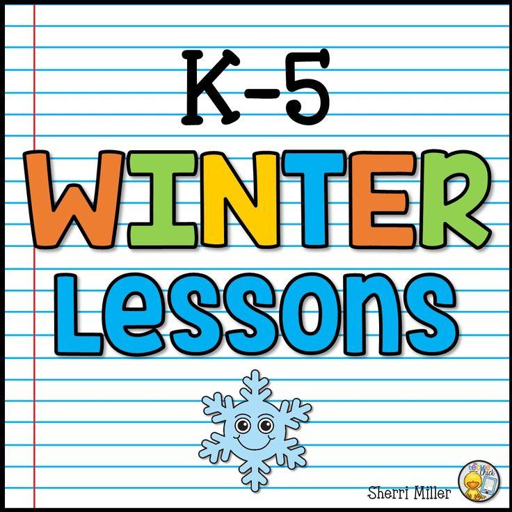 A collaborative K-5 winter seasonal lessons board for elementary educators