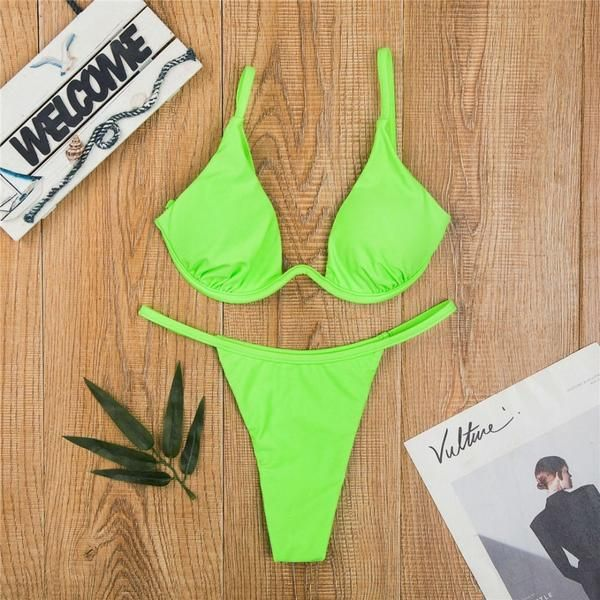 174dcbc0ff3c4 #Fashion #BestPrice Sexy V-Bar Underwired Bikini Swimsuit Women Two-piece V  Shape Wire V05 #Discounts #BestPrice
