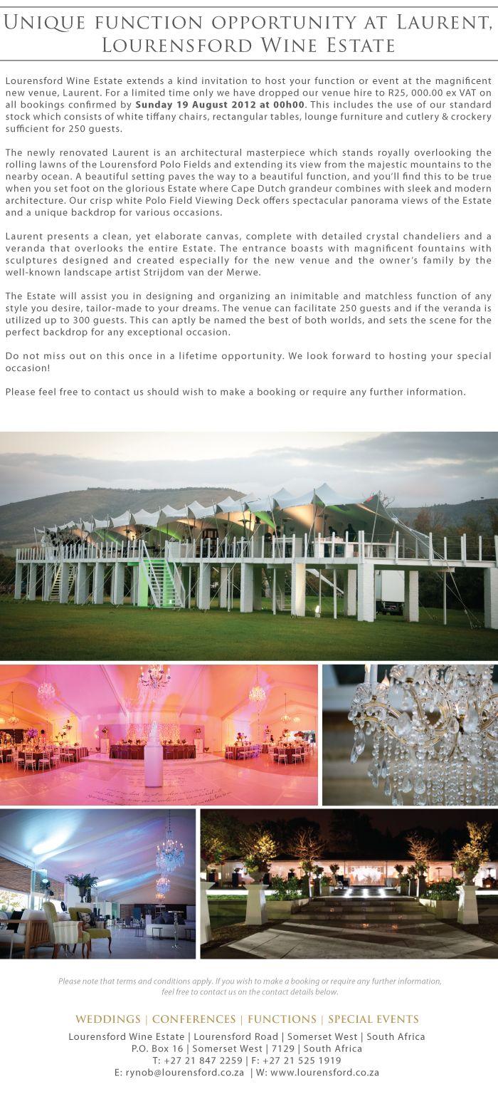 Lourensford - great wedding venue in Somerset West