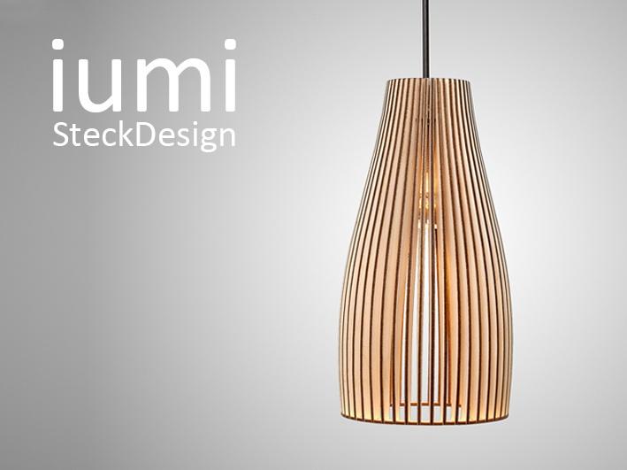iumi - Birkenholz Lampe als Stecksatz