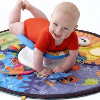 Este gimnasio ayudará a que tu bebé fortalezca espalda y cuello, esto lo preparará para el gateo.
