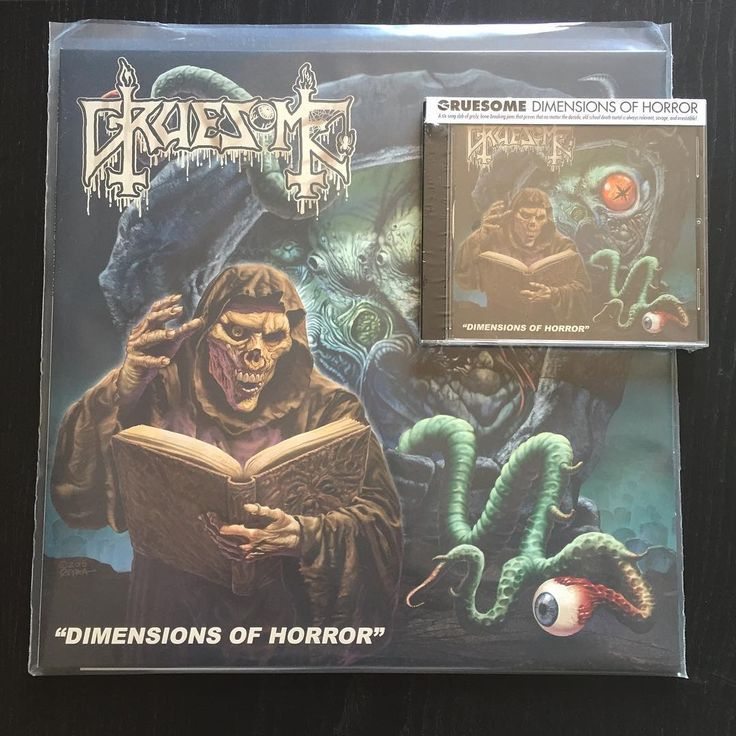 "ON SALE! Gruesome ""Dimensions Of Horror"" (2016 Relapse) CD 9,90€/LP 16,90€ www.everlastingspew.com  After exploding onto the death metal scene in 2015 with their Leprosy-inspired full-length debut 'Savage Land', death metal wrecking crew GRUESOME (featuring current and former members of Exhumed, Possessed, Malevolent Creation, and Derketa) returns in 2016 with a new EP entitled 'Dimensions Of Horror'. Self-produced by the band and recorded with Jarrett Pritchard at New Constellation Studios…"