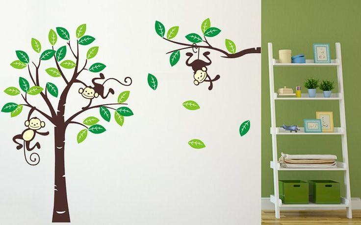 Gorgeous Monkey Tree Wall Decal