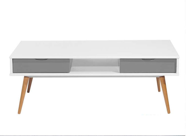 Table basse laquée Blanc KENNEDY TABLE BASSE