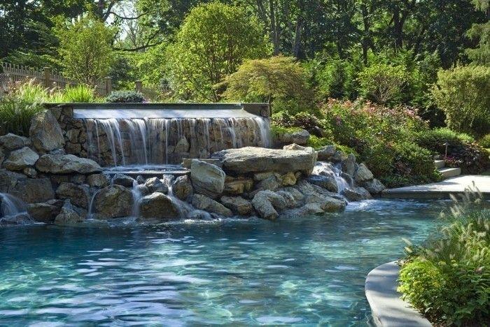 1001 mod les spectaculaires de piscine avec cascade piscines de r ve pinterest piscines. Black Bedroom Furniture Sets. Home Design Ideas