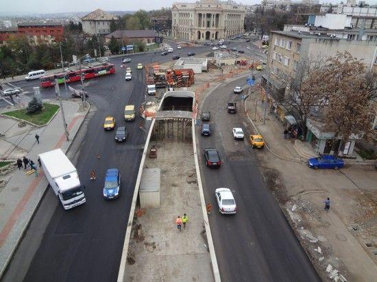 Pasajul subteran de la Fundatie in constructie, Iasi, Romania