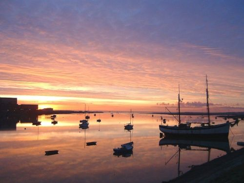 Walney Channel at Sunrise A picture of: Barrow in Furness