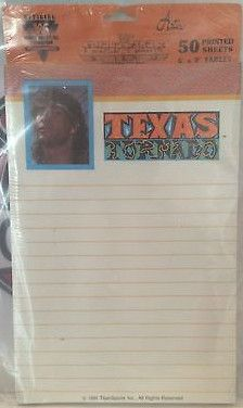 (TAS031401) - WWE WWF WCW Wrestling Texas Tornado 50 Printed Sheets 6x9 Tablet