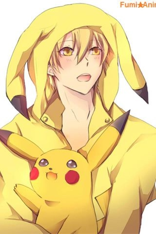 Toma (Amnesia) with Pikachu #anime #manga