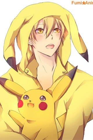 Toma (Amnesia) with Pikachu #anime #manga