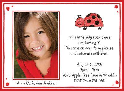 Awesome Ladybug Birthday Invitations Ideas