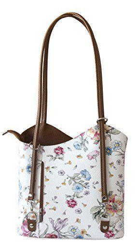 Rucksack Handtaschen 2 in 1 Damentaschen Ledertasche Lederrucksack Designer Luxus Henkeltasche mit Blumenmuster Tasche aus Echt Leder, http://www.amazon.de/dp/B06Y1B2NKF/ref=cm_sw_r_pi_awdl_xs_2QGczbH041P1D