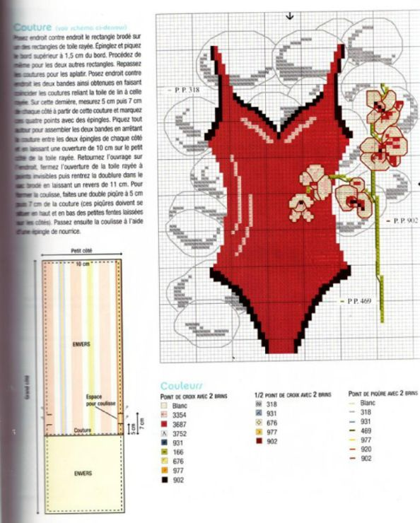 Bathing suit cross stitch 2