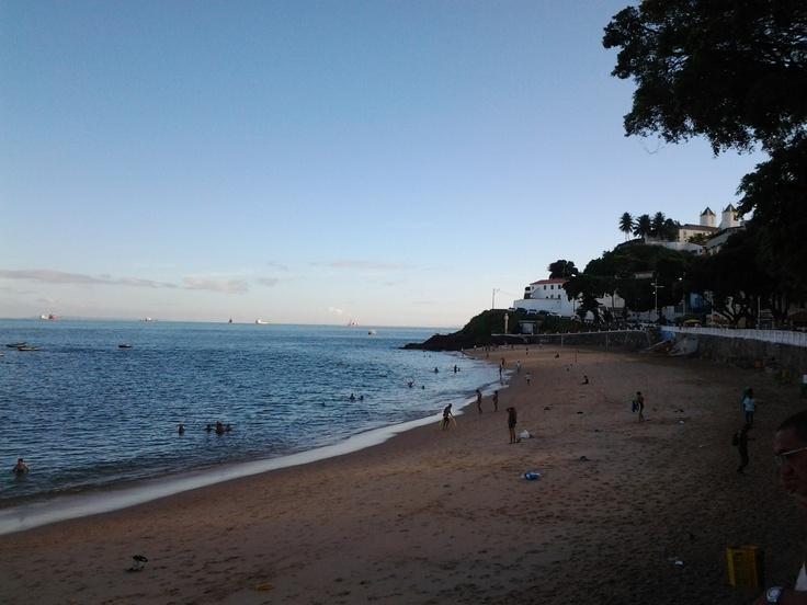 Salvador Barra beach after sunset