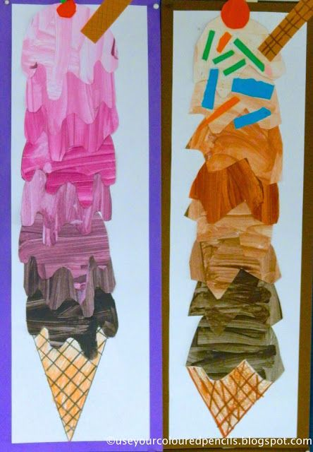 Ice Cream Cones in Tints and Shades