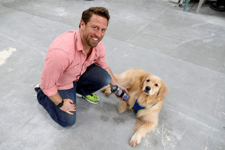 Derrick Campana holds the prosthetic paw he made for Kenna, a three-year-old golden retriever born without a front paw, at Animal Ortho Care in Sterling, Virginia, U.S., March 27, 2017. (REUTERS/Kevin Lamarque)  via @AOL_Lifestyle Read more: https://www.aol.com/article/news/2017/03/27/virginias-dr-doolittle-gives-amputated-animals-new-lease-on/22014439/?a_dgi=aolshare_pinterest#fullscreen