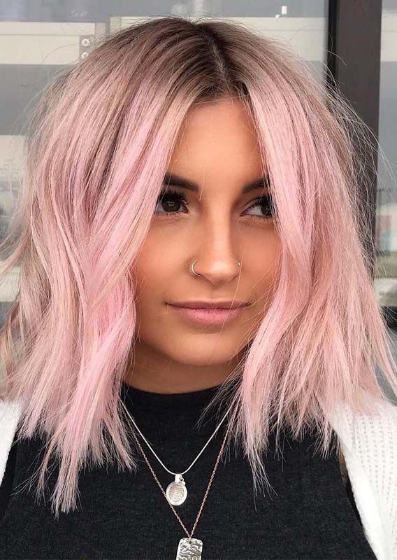 10 Schöne Rosa Pastellhaar Farben U Frisuren Für 2019