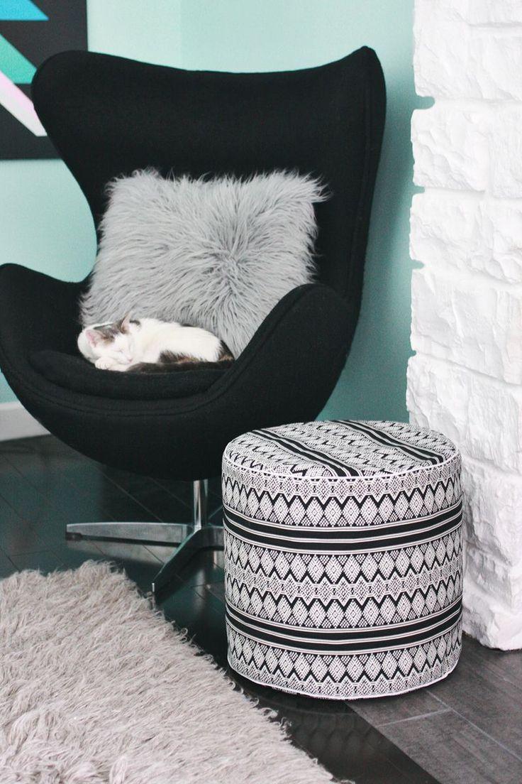 best  floor pouf ideas on pinterest  diy pouf crochet pouf  - drum floor pouf diy abeautifulmesscom