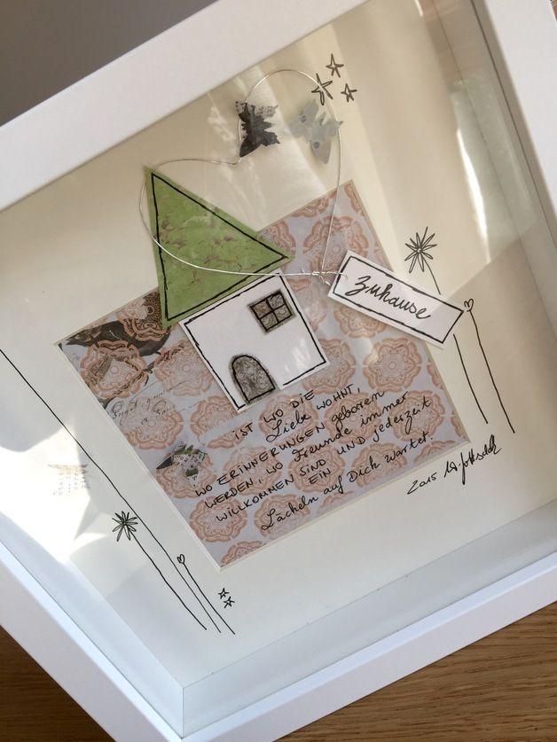 """Bild """"Zuhause"""" UNIKAT  incl. Rahmen und Passepartout  ❤️alle meine persönlichen Bilder sind unverwechselbar mit dem """"WG ART handmade with love"""" stofflabel gekennzeichnet.❤️"""