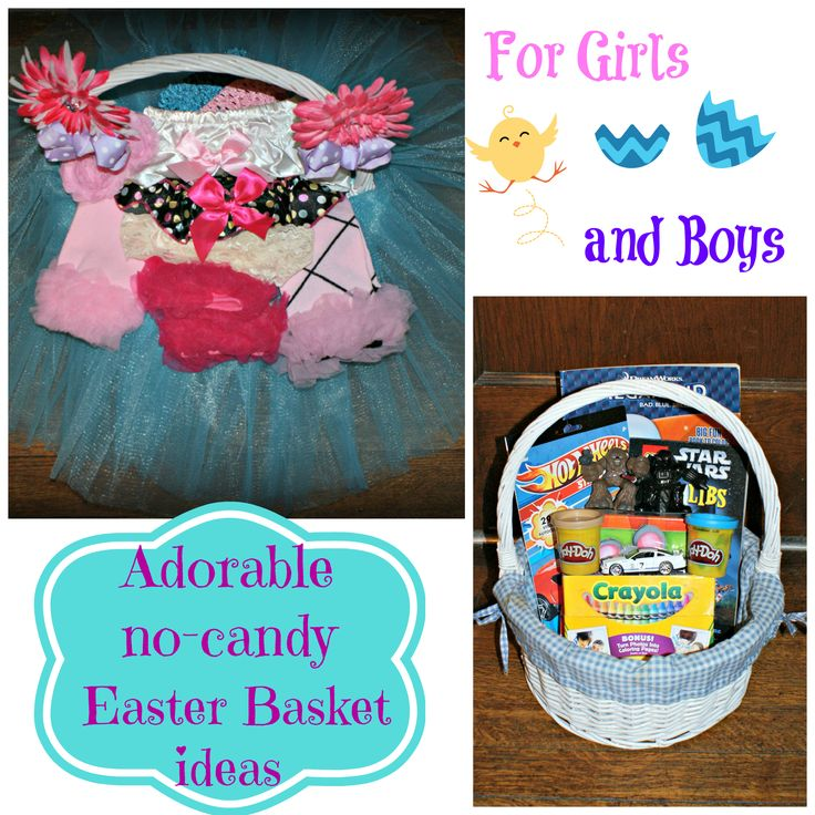 176 best spring easter ideas not religious images on pinterest cute no candy easter basket ideas for girls and boys negle Choice Image