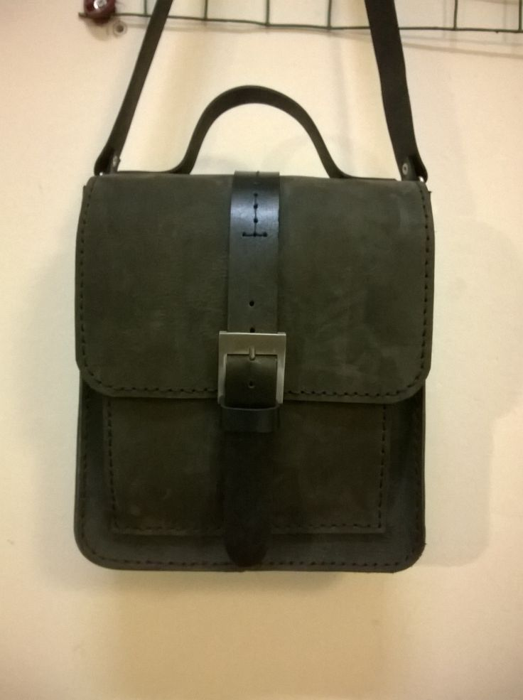 Handmade leather shoulder bag fır nan