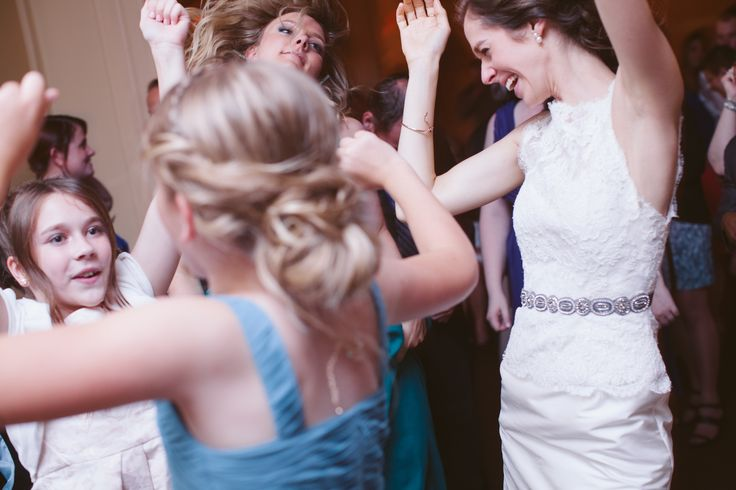 Hands up at a Graydon Hall Manor Wedding.  Music by Michael Coombs.