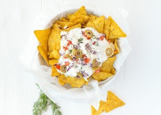 Weekendbites: Griekse nacho's
