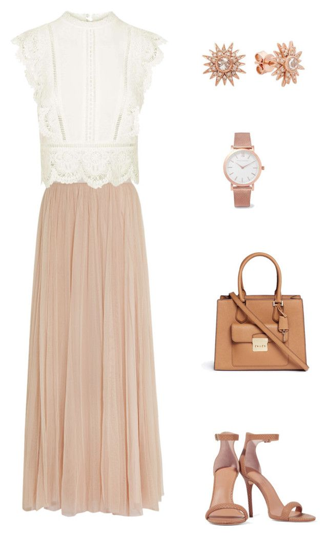 """""""Untitled #4"""" by lhh-ph on Polyvore featuring Needle & Thread, Topshop, Halston Heritage, Michael Kors, Larsson & Jennings and Kenza Lee"""