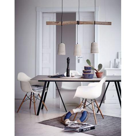 Deckenleuchte, Natur Look, Ast, Beton-Schirme Katalogbild #LampEsstisch