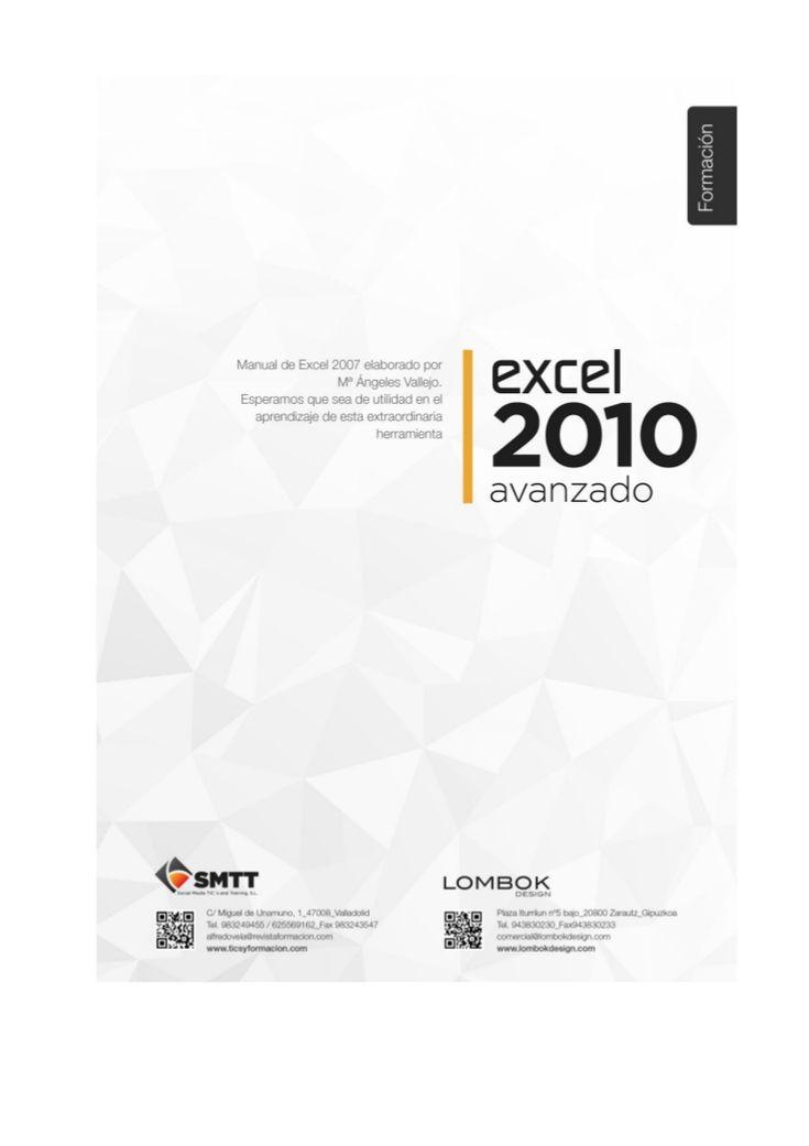 Manual Excel 2010 avanzado