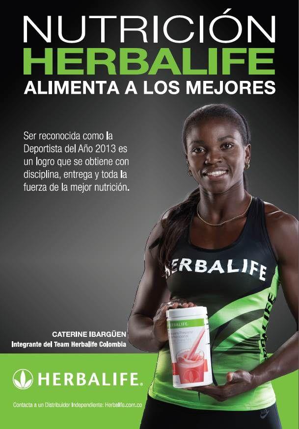 Caterine Ibargüen, integrante del #TeamHerbalife Colombia. Campeona del mundo de triple salto, medallista olimpica y campeona de sudamerica.